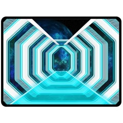 Space Ship Sci Fi Fantasy Science Double Sided Fleece Blanket (large)