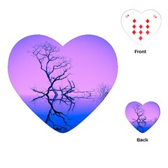 Nature Inspiration Trees Blue Playing Cards (heart)