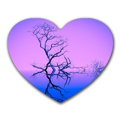 Nature Inspiration Trees Blue Heart Mousepads