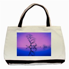 Nature Inspiration Trees Blue Basic Tote Bag (two Sides)