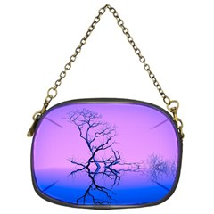 Nature Inspiration Trees Blue Chain Purse (one Side)