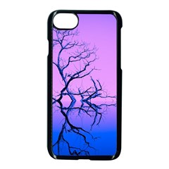 Nature Inspiration Trees Blue Apple Iphone 7 Seamless Case (black)