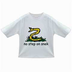 No Step On Snek Gadsden Flag Meme Parody On White Background Infant/toddler T Shirts