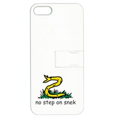 No Step On Snek Gadsden Flag Meme Parody On White Background Apple Iphone 5 Hardshell Case With Stand