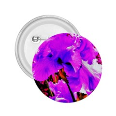Abstract Ultra Violet Purple Iris On Red And Pink 2 25  Buttons