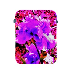 Abstract Ultra Violet Purple Iris On Red And Pink Apple Ipad 2/3/4 Protective Soft Cases