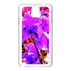 Abstract Ultra Violet Purple Iris On Red And Pink Samsung Galaxy Note 3 N9005 Case (white) by myrubiogarden