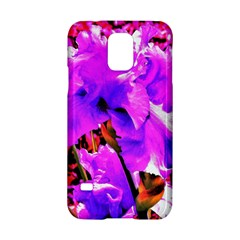 Abstract Ultra Violet Purple Iris On Red And Pink Samsung Galaxy S5 Hardshell Case