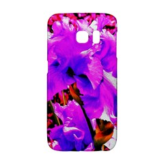 Abstract Ultra Violet Purple Iris On Red And Pink Samsung Galaxy S6 Edge Hardshell Case