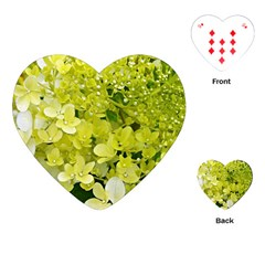 Elegant Chartreuse Green Limelight Hydrangea Macro Playing Cards (heart)