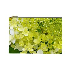 Elegant Chartreuse Green Limelight Hydrangea Macro Cosmetic Bag (large) by myrubiogarden