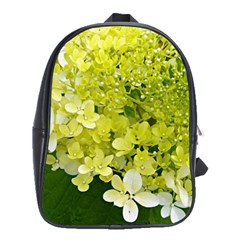 Elegant Chartreuse Green Limelight Hydrangea Macro School Bag (large)