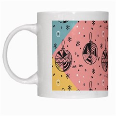 Abstract Christmas Balls Pattern White Mugs by Mariart