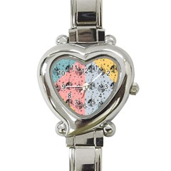 Abstract Christmas Balls Pattern Heart Italian Charm Watch by Mariart