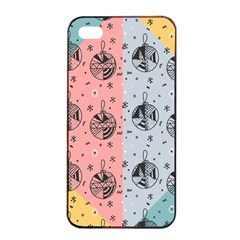 Abstract Christmas Balls Pattern Apple Iphone 4/4s Seamless Case (black)