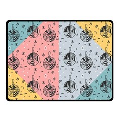 Abstract Christmas Balls Pattern Double Sided Fleece Blanket (small)