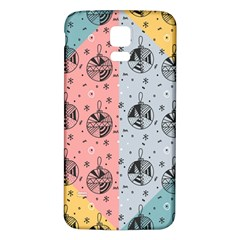 Abstract Christmas Balls Pattern Samsung Galaxy S5 Back Case (white) by Mariart