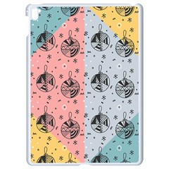 Abstract Christmas Balls Pattern Apple Ipad Pro 9 7   White Seamless Case