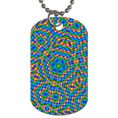 Abstract Background Rainbow Dog Tag (two Sides)
