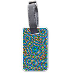 Abstract Background Rainbow Luggage Tags (two Sides)