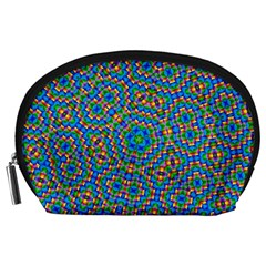 Abstract Background Rainbow Accessory Pouch (large) by Jojostore