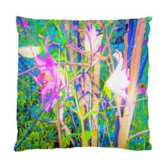 Abstract Oriental Lilies In My Rubio Garden Standard Cushion Case (one Side) by myrubiogarden