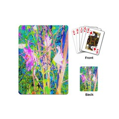 Abstract Oriental Lilies In My Rubio Garden Playing Cards (mini)