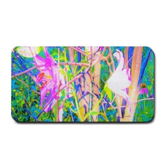 Abstract Oriental Lilies In My Rubio Garden Medium Bar Mats