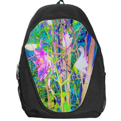 Abstract Oriental Lilies In My Rubio Garden Backpack Bag