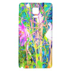 Abstract Oriental Lilies In My Rubio Garden Samsung Note 4 Hardshell Back Case