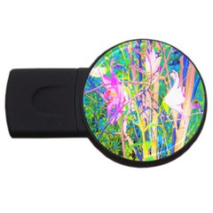 Abstract Oriental Lilies In My Rubio Garden Usb Flash Drive Round (4 Gb)
