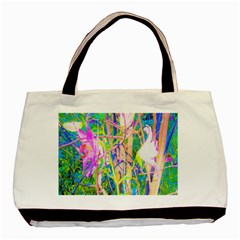 Abstract Oriental Lilies In My Rubio Garden Basic Tote Bag