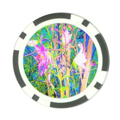 Abstract Oriental Lilies In My Rubio Garden Poker Chip Card Guard