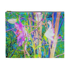 Abstract Oriental Lilies In My Rubio Garden Cosmetic Bag (xl)