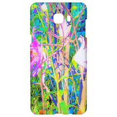 Abstract Oriental Lilies In My Rubio Garden Samsung C9 Pro Hardshell Case  by myrubiogarden