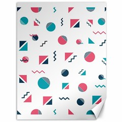 Round Triangle Geometric Pattern Canvas 36  X 48
