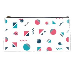 Round Triangle Geometric Pattern Pencil Cases