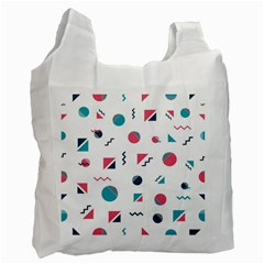Round Triangle Geometric Pattern Recycle Bag (one Side)