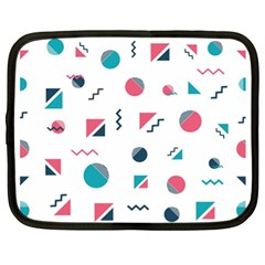 Round Triangle Geometric Pattern Netbook Case (xl)