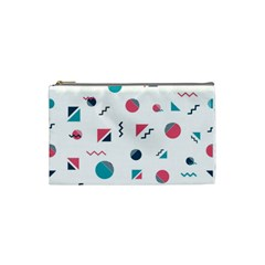 Round Triangle Geometric Pattern Cosmetic Bag (small)