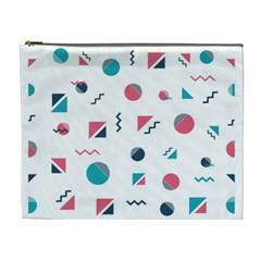 Round Triangle Geometric Pattern Cosmetic Bag (xl)