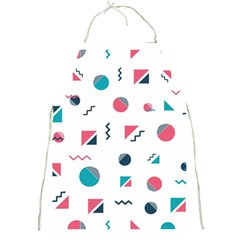 Round Triangle Geometric Pattern Full Print Aprons