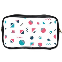 Round Triangle Geometric Pattern Toiletries Bag (one Side)