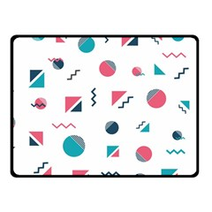 Round Triangle Geometric Pattern Fleece Blanket (small)