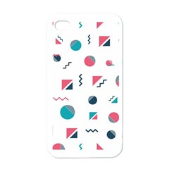 Round Triangle Geometric Pattern Apple Iphone 4 Case (white)