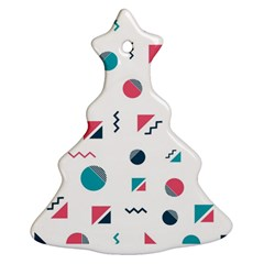 Round Triangle Geometric Pattern Ornament (christmas Tree)