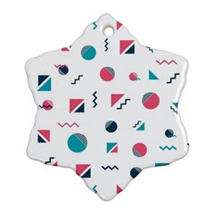 Round Triangle Geometric Pattern Snowflake Ornament (two Sides)