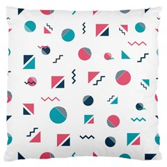 Round Triangle Geometric Pattern Large Cushion Case (one Side)