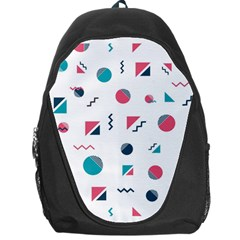 Round Triangle Geometric Pattern Backpack Bag