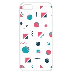 Round Triangle Geometric Pattern Apple Iphone 5 Seamless Case (white)
